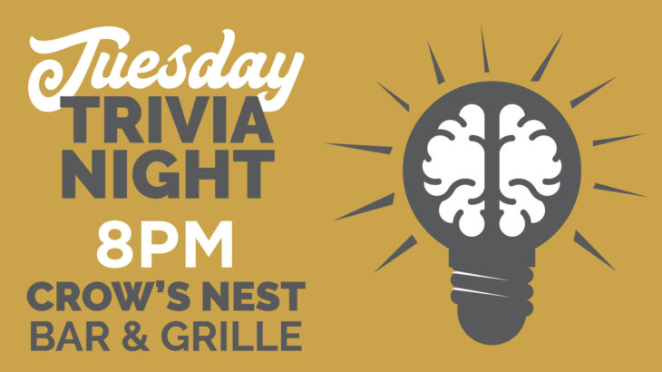 tuesday night trivia crow's nest bar & grille